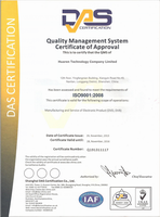ISO9001:2008 Quality Management System Certificate of Approval