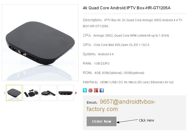 Order TV Boxes Now